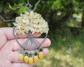 Pinny Apple Tree of Life Beaded Wire Pendant