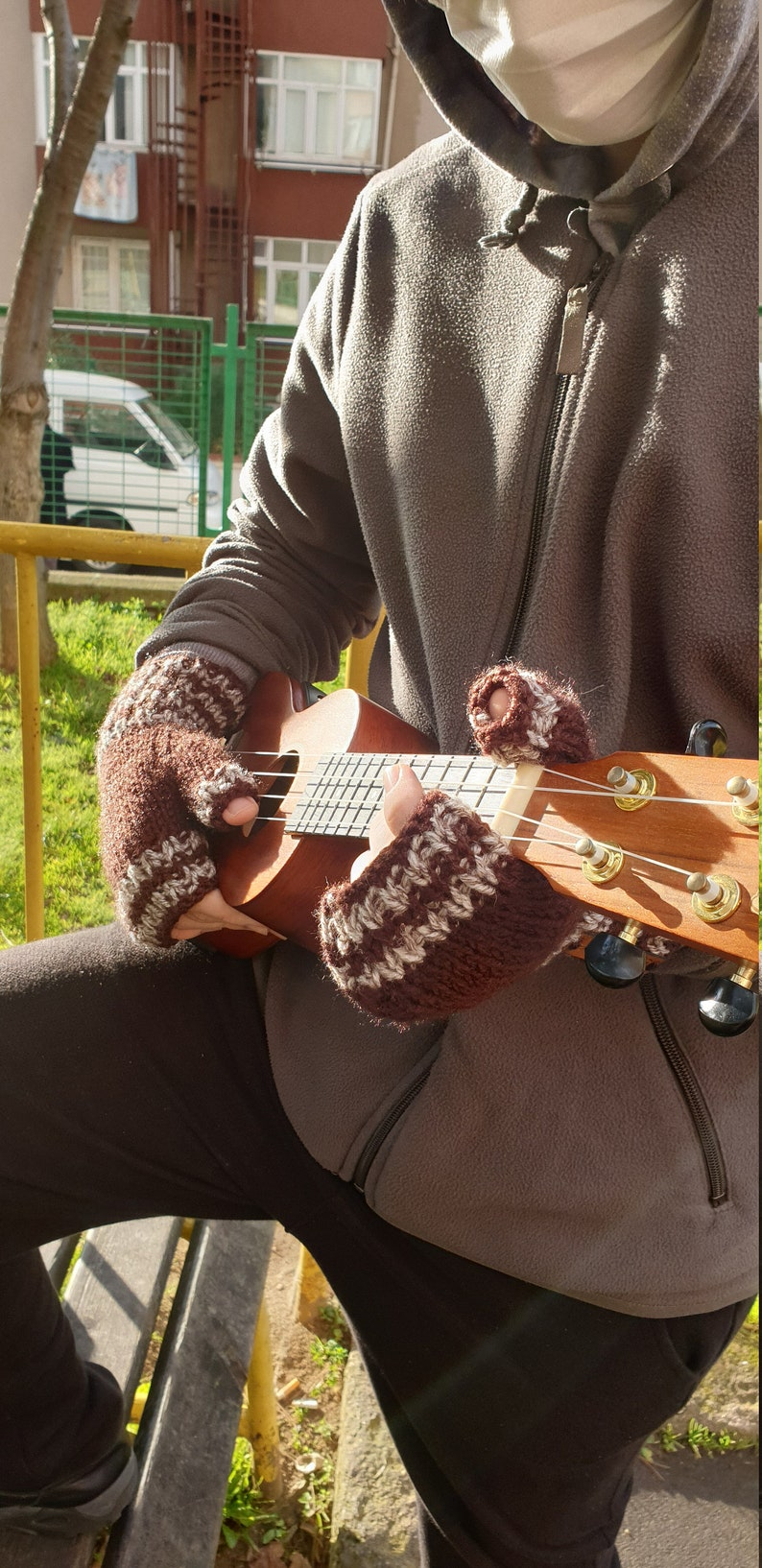 Hand Knitting Men Gloves ~ Men/'s Fall Fashions ~ Winter Accessory for Men ~ Women/'s Fall Fashion