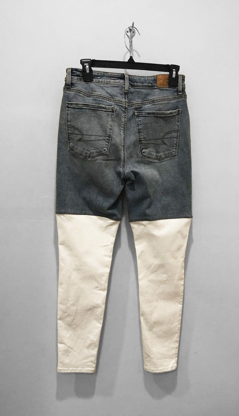 Color Block High-Rise Skinny Jeans