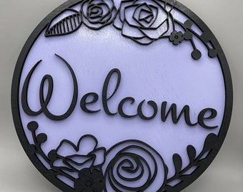 Welcome Wood Sign/Welcome Plaque/Personalized Welcome Sign/Laser Cut Sign/Personal Welcome Sign