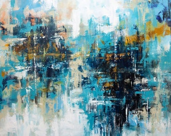 Handmade Abstract Painting - Gallery Wall Art, Oil Paintings On Canvas, Modern Wall Decor, Large Acrylic Painting, Original Painting, MD0081