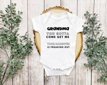 Baby Gift From Grandmother Baby Onesie\u00a9 Grandma A Mom Without Rules Funny Baby Clothing Grandma Onesie Baby Shower Gift