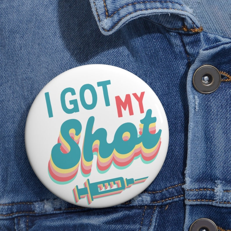 i got my shot proudly vaccinated pro vaccination pin covid vaccine pin button cute vaccinated pin for nurse 2,25 pin button vaxxed pin