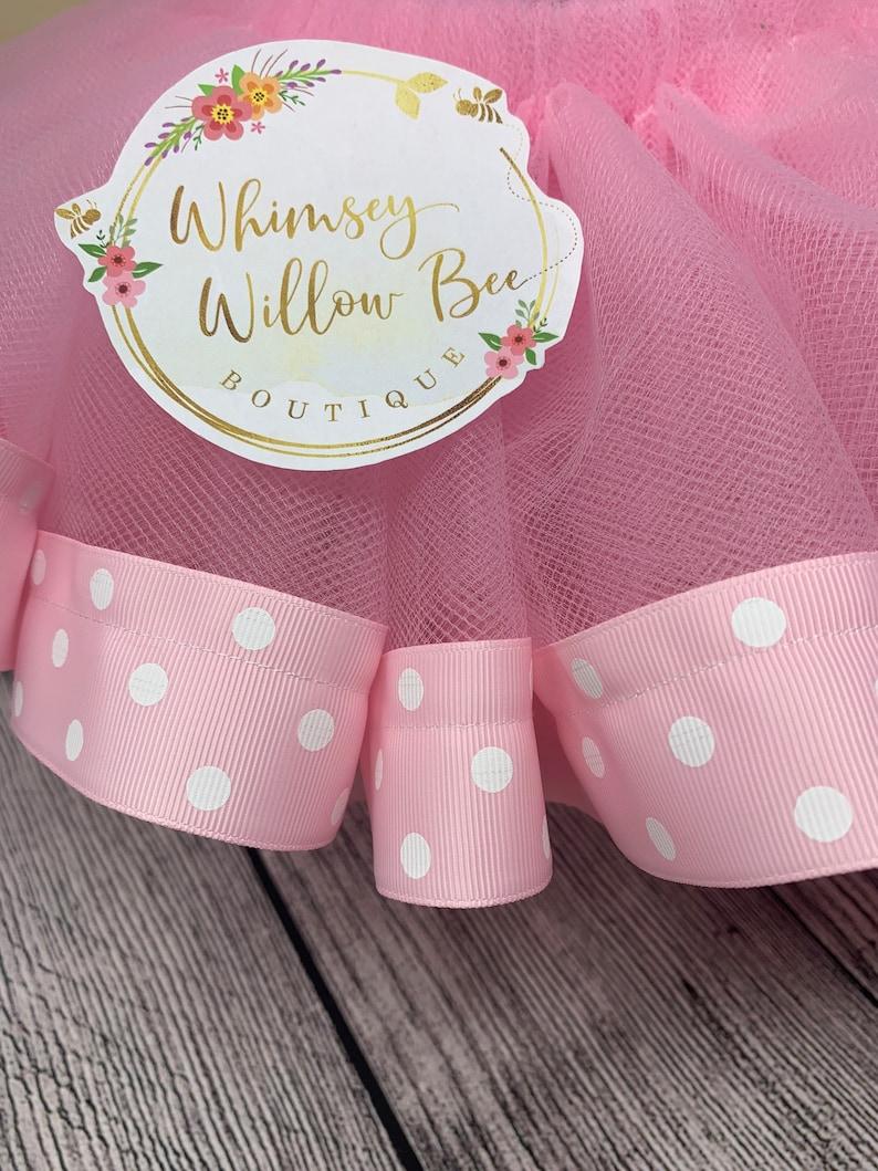 Pink Polkadot Ribbon Trim TuTuRibbon Trim TutuTutuKids TutuGirls Pink Tutu