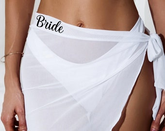 Bride, Bridesmaid, Bachelorette Party Event, Beach Party, Matching Swim Cover Ups, Sarongs