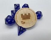 RPG Commemorative Token   Wood Campaign or Milestone Award   Single Challenge Coin