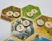 Catan   Replacement/Upgrade Wood Number Tokens   Classic or 5th Edition Number Layout