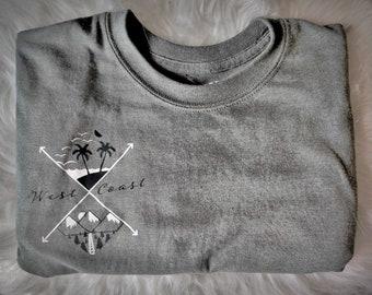West coast T-shirt West coast best coast Trendy West California TeeWashington Tee Oregon Tee Surfing T-shirt Comfort Tee
