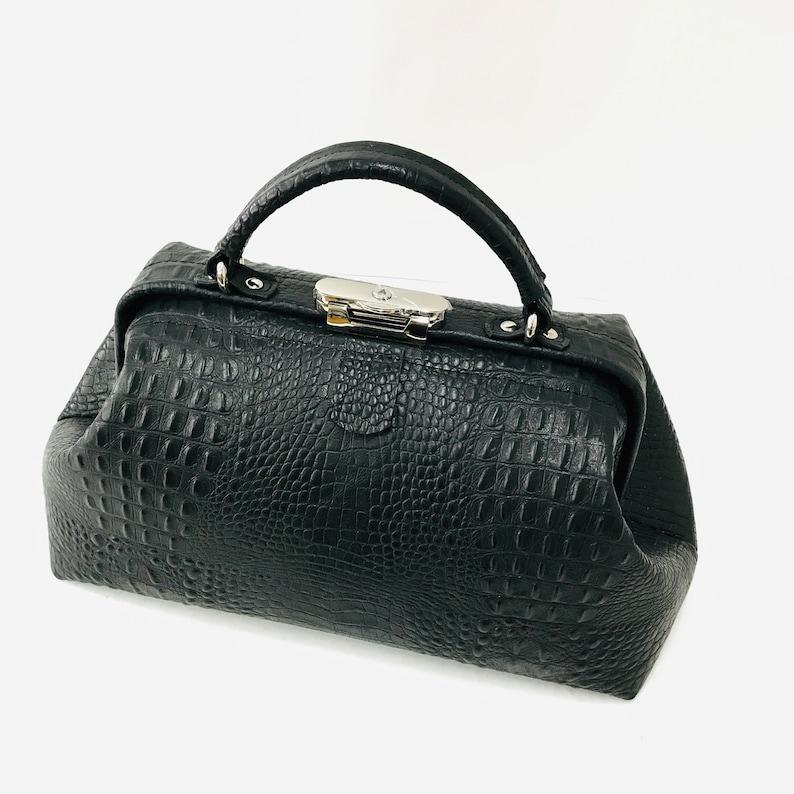 Edwardian Gloves, Handbags, Hair Combs, Wigs Womens Crocodile Genuine Leather Bag Doctor ?ag Travel Bag Gift for Her $239.00 AT vintagedancer.com