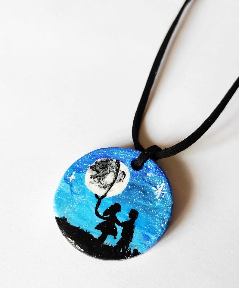 Under The Moon Love Women Gifts \u2022 Celestial Pendant \u2022 Minimalist Dainty Jewelry \u2022 Ceramic Gift Necklace \u2022 Valentines Day Gift For Her