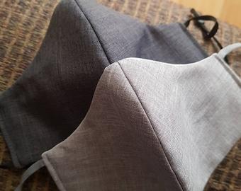Men's Adjustable Light Gray Suit Face Mask Reversible Wedding Groomsmen Groom Formal Event Office Business Best man Bestman Casual Men mask