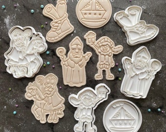Saint Nicholas Cookie Cutter + Stamp Set