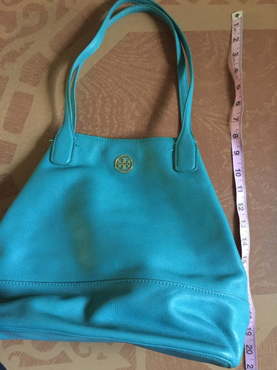 Tory Burch Michelle purse - turquoise leather purs
