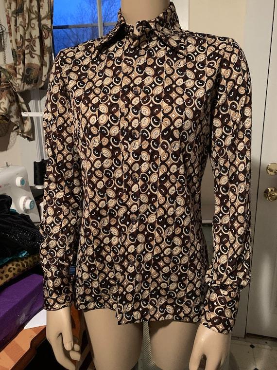 Vintage Emilio Pucci 1970s button down blouse! Dis