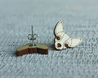 Pet Earrings Dog Post Earrings Dog Earrings Laser Cut and engraved Dog Earrings Dog Lovers Dog Stud Earrings Dog Breed Stud Earrings
