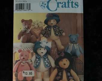 NEW Craft Pattern NP2268 Kwik Sew 4389 or R10871 Memory Bear Pattern Bear with Clothes Elaine Heigl Design 21 and 12 Inch Bear