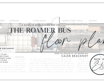 The Roamer Bus Floor Plans - Condensed Version