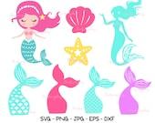 Mermaid SVG Bundle, Mermaid Monogram svg, cute mermaid, Mermaid clipart, Sea Beach svg, Mermaid Tail SVG, Mermaid Layer, PNG, Vector, CriCut