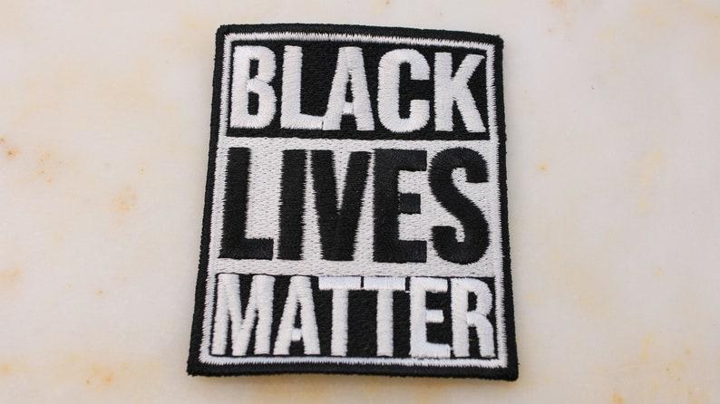 Black Lives Matter Embroidered Patch 8 cm