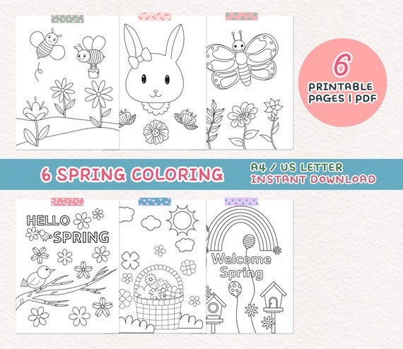 Coloring Pages for Kids Spring Coloring Pages Spring