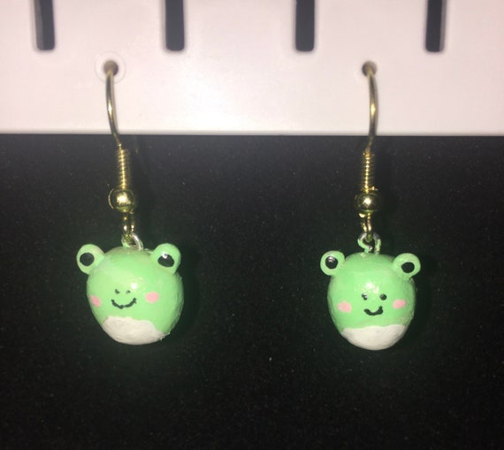 Wendy the Frog Squishmallow Earrings