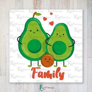 Avocado Family PNG  Avocado PNG   Valentine Clipart  Avocado Clipart  Love PNG  Sublimation Design  Digital Design  Instant Download
