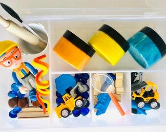 Blippi Inspired Play Dough Kit | Blippi | Play Dough Sensory Kit | Open Ended | Toys | Construction