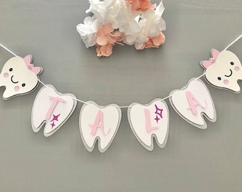 First Tooth Custom Name Banner