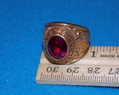 Vintage - U.S. MILITARY 101 st AIRBORNE DIVISION - Desert Shield Red Stone Ring - Size 10 - New Old Stock Alpha Brand