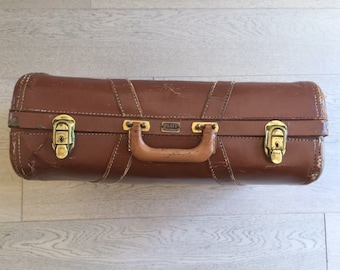 Vintage Platt Guardsman leather suitcase