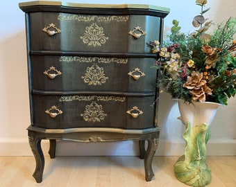 """Bright Design chest of drawers from the collection """"Black Pearl"""" Handmade 75x57x31"""