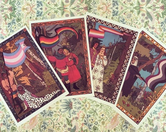 Medieval Pride Flag A5 Prints