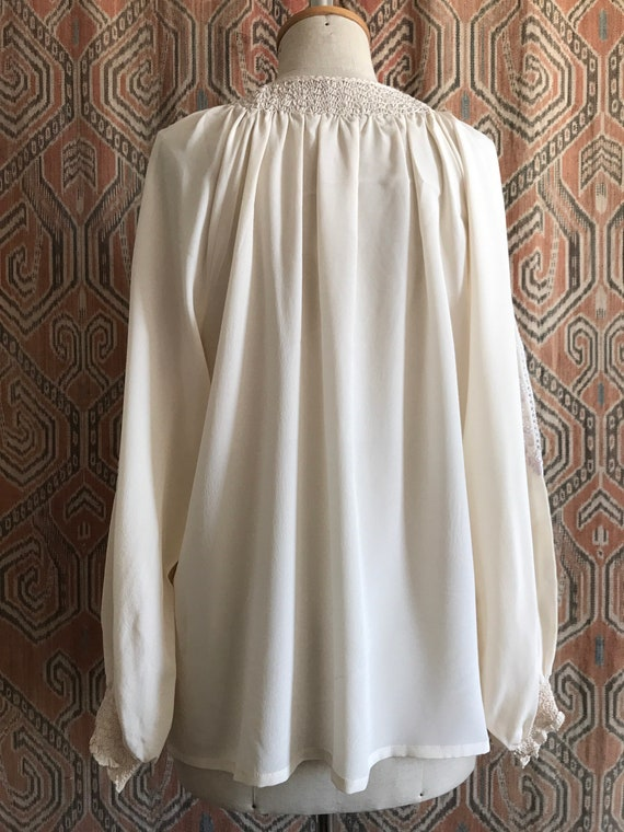Vintage 1930s style Silk Embroidered Hungarian Pe… - image 6