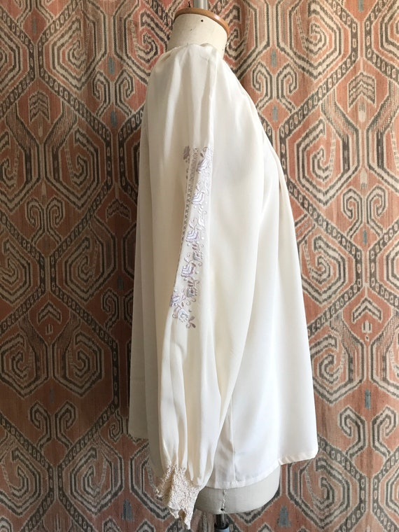 Vintage 1930s style Silk Embroidered Hungarian Pe… - image 4