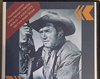 Jimmy Stewart Collection-Plus BONUS 5 Audio CD's-Old Time Radio Shows Featuring Jimmy Stewart, Six Shooter, Lux Radio Shows