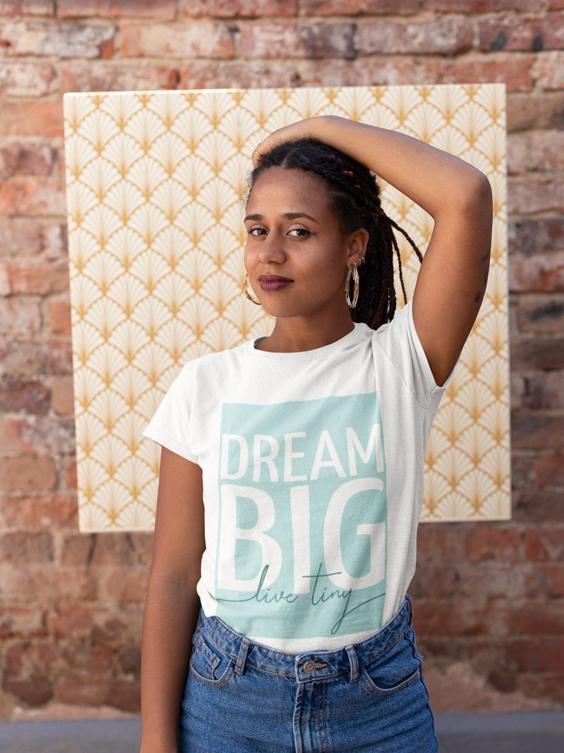 Dream Big Live Tiny Unisex T-Shirt
