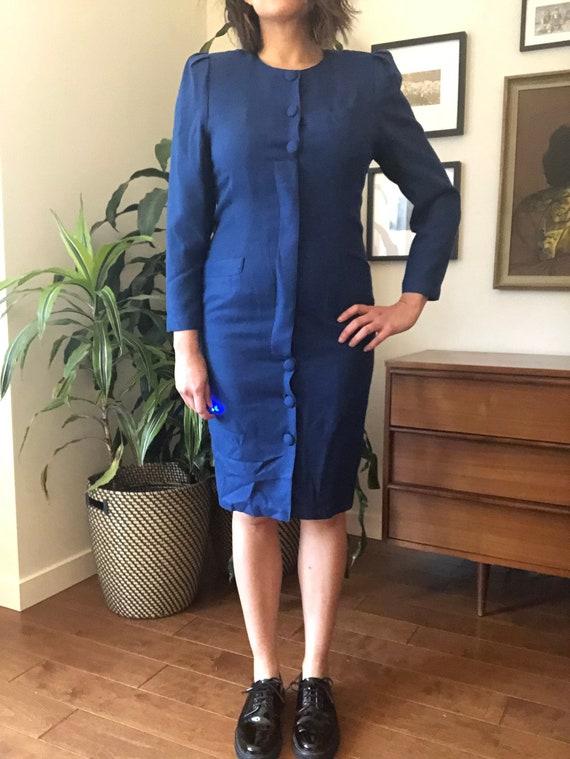 Beautiful Vintage Cobalt Sheath Dress
