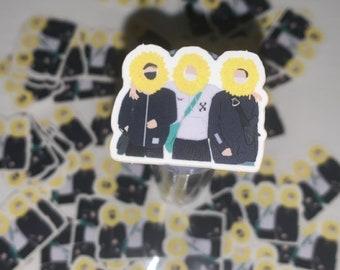 Sunflower yoonjinhope sticker (yoongi, hobi, Jin)