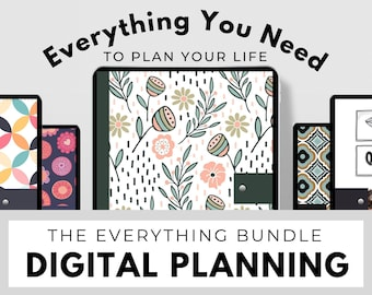 Lifetime Bundle ~ Digital Planners, Digital Stickers, Printable Planners, Digital Scrapbooks ~ Daily, Weekly, Monthly, Yearly, Goals & more