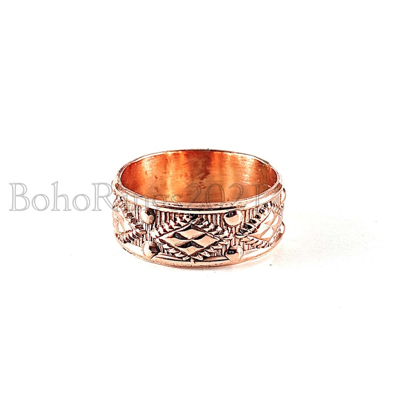 Handcrafted Band Ring Gift For Girls Unique Ring Thumb Ring Personalized Jewelry Gifts Spinner Ring Amazing Ring Copper /& Brass Ring