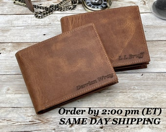Mens Engraved Wallet, Personalized Wallet, personalized wallet for men, personalized mens wallet, leather wallet, mens leather wallet