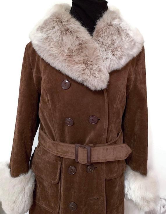 """Vintage Velvet Fur Trimmed """"Penny Lane"""" Coat"""