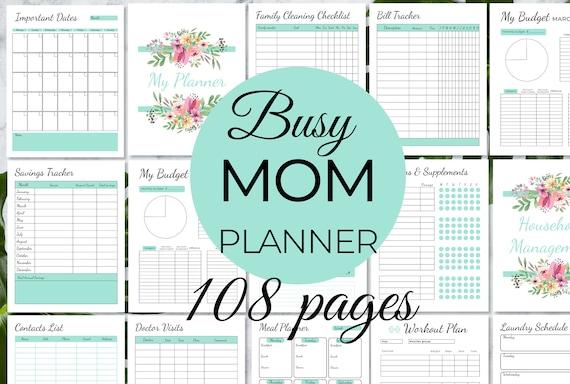 Mom Planner Home Management Planner Printable House Binder