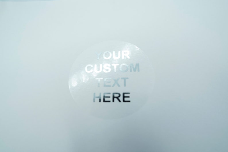 Clear Round Custom Foiled Silver Personalized Sticker Sheet Wedding Let The Fun Be Gin Custom Book Lover Book Book Sticker Labels