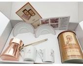 Mehmet Efendi Turkish Coffee 250 g Coffee Pot 2 Cup Gift Set