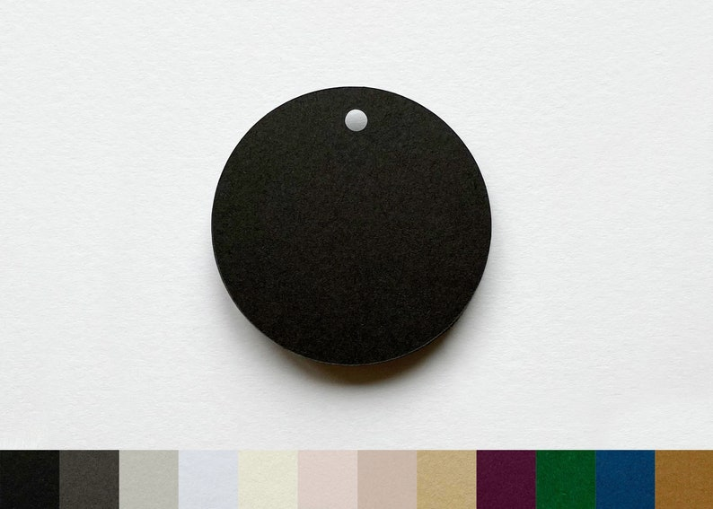 Blank Tags  Circle  Choose from 2 sizes & 12 colours  Made image 0