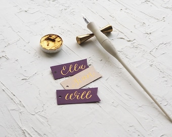 Blank Tags - Ribbon - Choose from 4 sizes & 12 colours - Made for Calligraphy - Ideal for Weddings, Events, Invitations, Stationery