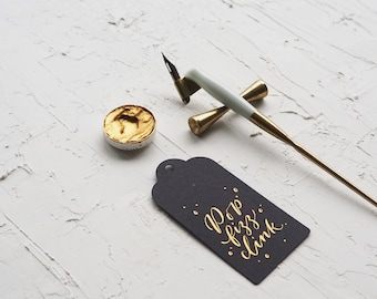 Blank Tags - Deco - Choose from 4 sizes & 12 colours - Made for Calligraphy - Ideal for Weddings, Events, Invitations, Stationery
