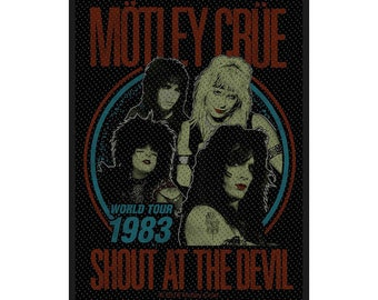 Motley Crue Rock Band Sew or Iron on Patch NEW