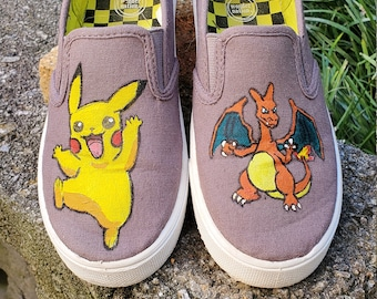 Painted Kids Shoes, Custom Shoes, Boys Shoes, Painted Shoes, Character Shoes